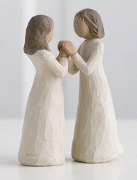 Willow tree figurer. Sisters by heart.